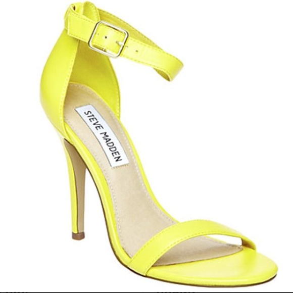 c6351cfa26e Steve Madden marlenee neon yellow heels. M 5ad442752ae12f06873f12b3